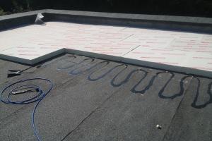 Plat dak isoleren plat dak geïsoleerd met pir dakisolatie